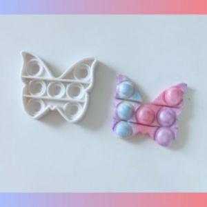 Molde de Silicone Borboleta Pop It Fidget Toy Cia do Molde