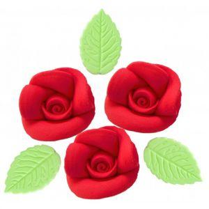 Confeito de Açúcar 001 Rosas Artesanais G Vermelha Jady Confeitos