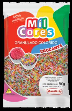 Granulado Crocante Colorido Mil Cores 500gr