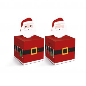Caixa Quadrada Pop Up M Papai Noel Chegou Cromus PCT/10un
