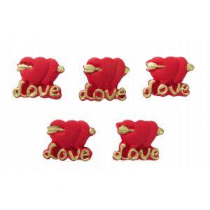 Confeito de Açúcar 382 Coração Love Jady Confeitos
