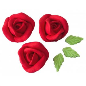 Confeito de Açúcar 426 Rosa Artesanal M Vermelha Jady Confeitos