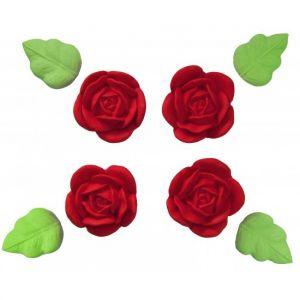 Confeito de Açúcar 464 Flor Yasmin Vermelha Jady Confeitos