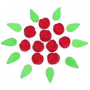 Confeito de Açúcar 491 Mini Botão Vermelha Jady Confeitos