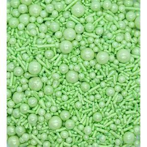 Confeito de Açúcar 530 Sprinkles Verde Candy Jady Confeitos