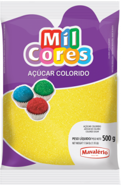 Açúcar Colorido Amarelo Mil Cores 500gr