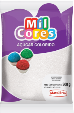 Açúcar Colorido Branco Mil Cores 500gr