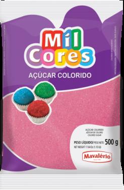 Açúcar Colorido Rosa Mil Cores 500gr