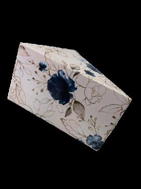 Caixa Fatia de Bolo Estampa Azul Max Paper 6 unidades