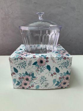 Caixa para Taça Floral Turquesa Max Paper