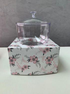 Caixa para Taça Floral Rosa Max Paper