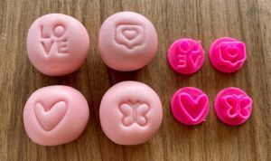Kit Carimbo para Doces Love 4 unidades