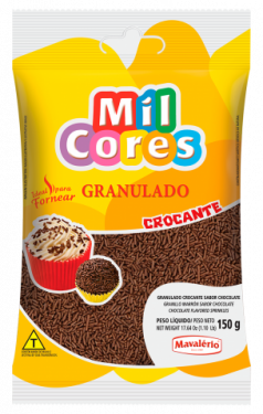 Granulado Crocante Sabor Chocolate Mil Cores 150gr