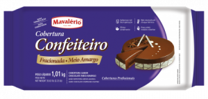 Cobertura Barra Confeiteiro Meio Amargo Mavalério 1,01kg