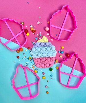 Cortador Cupcake Pop It 8cm Max Festas