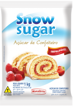 Açúcar de Confeiteiro Snow Sugar 1kg