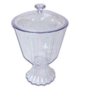 Taça Confeiteiro Com Tampa 1,250LT Cristal LSC Toys