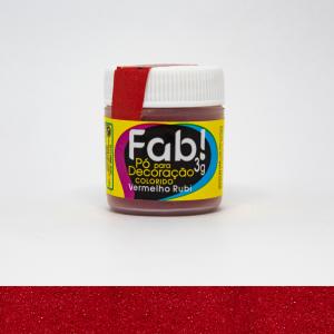 Pó Decoração Vermelho Rubi Fab 3gr